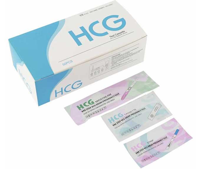 Cassette format of hcg test